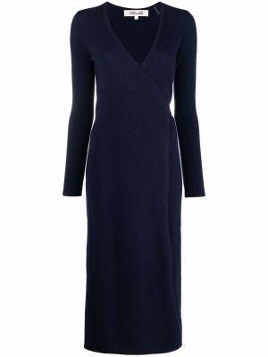 Niebieska sukienka wełniana Dvf Diane Von Furstenberg