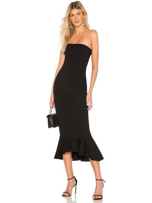 Czarna sukienka długa Superdown