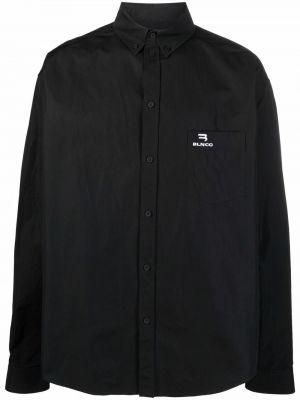 Koszula zapinane na guziki - czarna Balenciaga