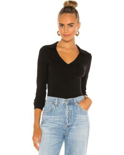 Światło nylon czarny sweter L'academie