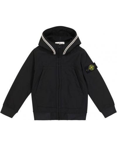 Куртка - черная Stone Island Junior