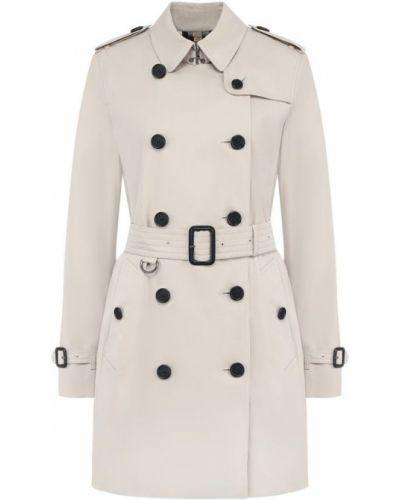 Пальто двубортное с поясом Burberry