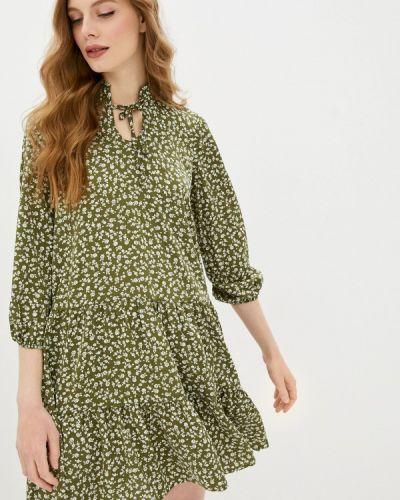 Прямое зеленое платье Imocean