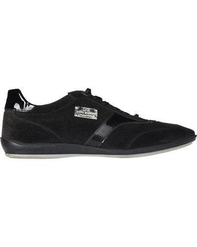 Черные кроссовки замшевые Dino Bigioni