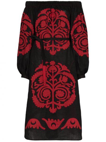 Платье миди винтажная с цветочным принтом Vita Kin