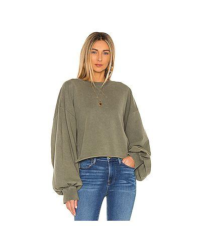 С рукавами вязаный свитер с разрезом Frame