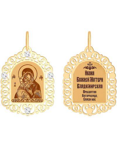 Ажурный крест золотой с декоративной отделкой Sokolov