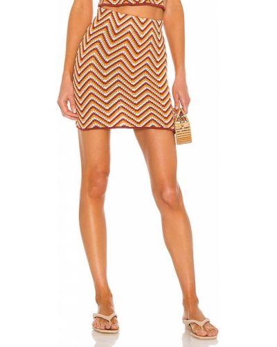Оранжевая текстильная рваная юбка на резинке Ronny Kobo