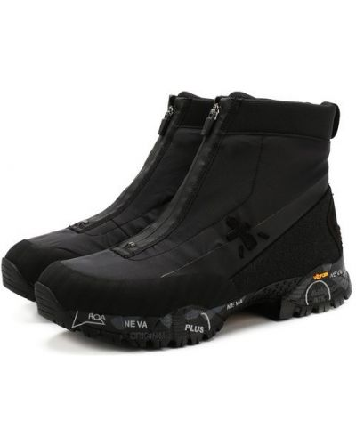 Высокие кроссовки на молнии комбинированные Premiata
