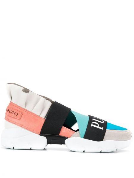 Skórzane sneakersy miejski Emilio Pucci