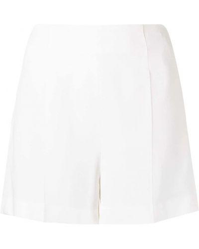 Белые с завышенной талией шорты на молнии Roberto Cavalli