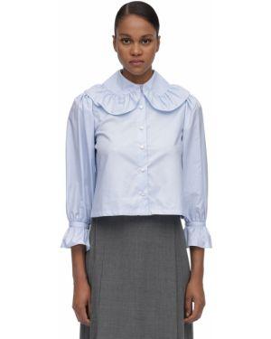 Блузка с рюшами из поплина Maryam Nassir Zadeh