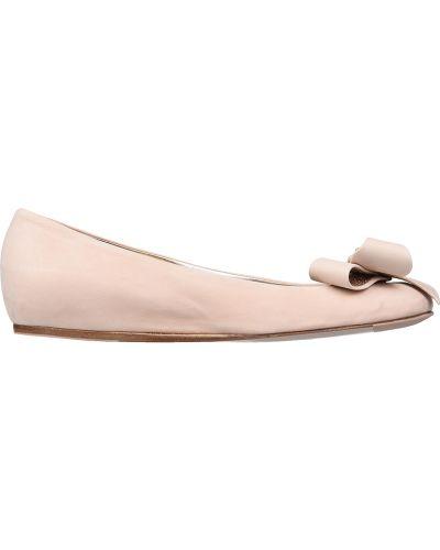 Балетки кожаные розовый Le Silla