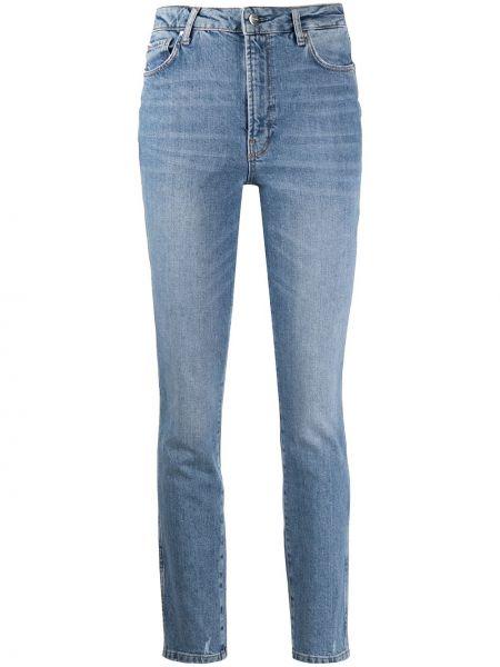 Хлопковые синие джинсы-скинни на молнии узкого кроя Anine Bing