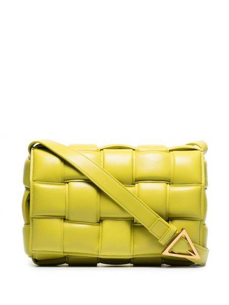 Зеленая сумка на плечо из натуральной кожи Bottega Veneta