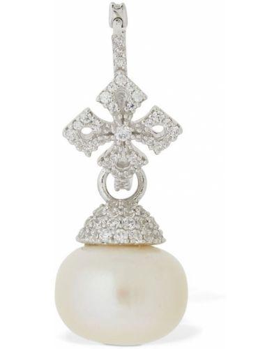 Srebro krzyż z perłami Apm Monaco