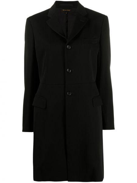 Шерстяное пальто - черное Comme Des Garçons