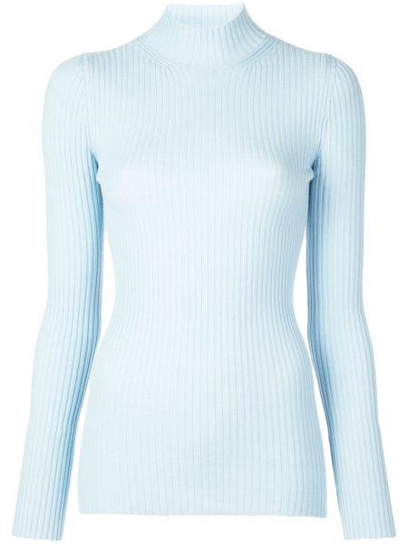 Prążkowany niebieski sweter wełniany Kwaidan Editions