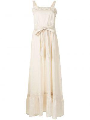 Расклешенное белое платье макси без рукавов We Are Kindred