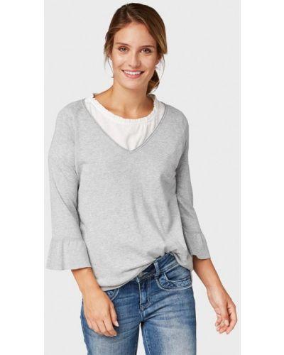 Пуловер серебряного цвета Tom Tailor