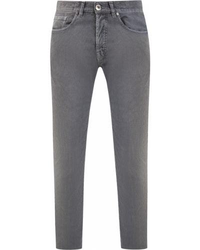 Серые джинсы вельветовые на пуговицах Eleventy