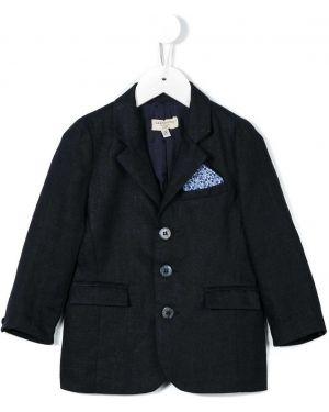 Темно-синий пиджак на пуговицах с воротником Cashmirino