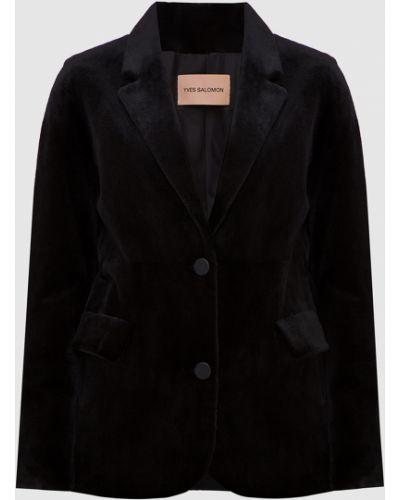 Норковый черный пиджак Yves Salomon