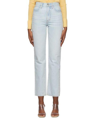 Прямые серебряные прямые джинсы стрейч Slvrlake