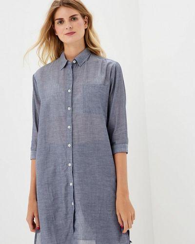 Платье платье-рубашка синее H:connect