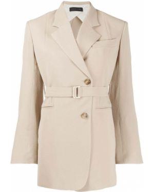 Пиджак двубортный с поясом на пуговицах Eudon Choi