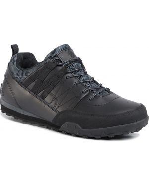 Klasyczne czarne sneakersy skorzane Elbrus