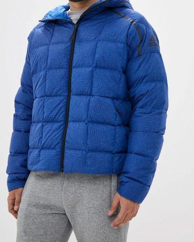 Зимняя куртка осенняя синяя Adidas