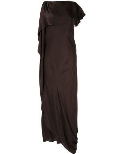 Приталенное драповое асимметричное платье Bianca Spender