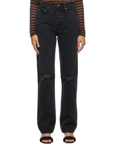 Черные прямые джинсы с карманами Grlfrnd