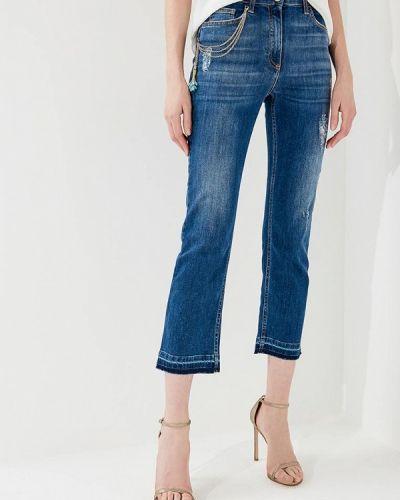 Синие прямые джинсы Elisabetta Franchi