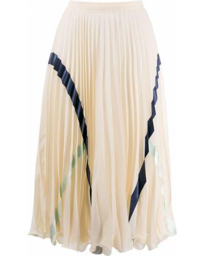 Плиссированная с завышенной талией юбка миди из вискозы See By Chloé