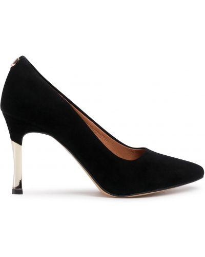 Туфли на каблуке - черные R.polański