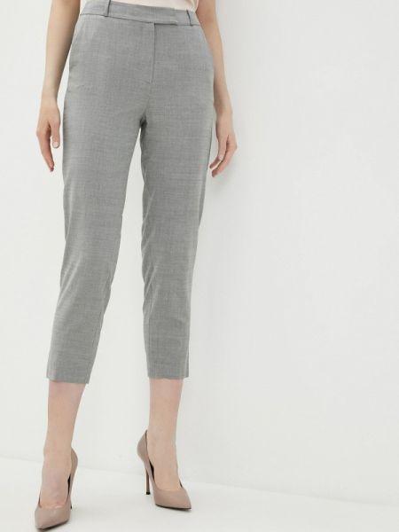 Серые классические брюки с карманами Lusio