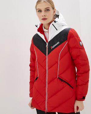 Зимняя куртка осенняя красная Forward