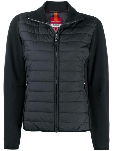 Хлопковая с рукавами черная длинная куртка с карманами Parajumpers