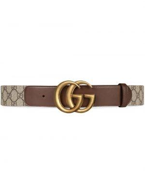 Złoty pasek - brązowy Gucci