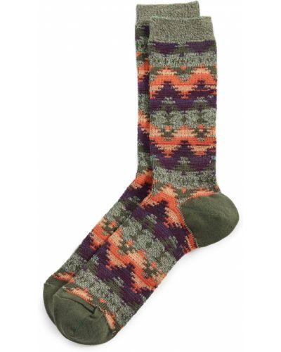 Хлопковые зеленые носки с манжетами Anonymous Ism