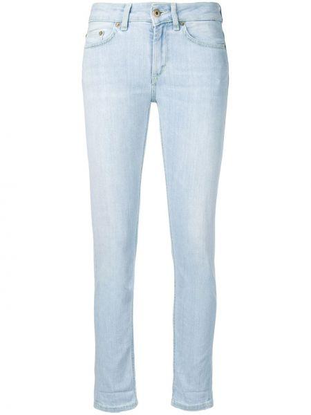 Укороченные джинсы с низкой посадкой с манжетами с поясом Dondup