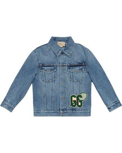 Bawełna bawełna niebieski jeansy zabytkowe Gucci Kids