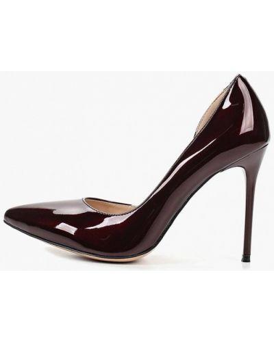 Туфли на каблуке кожаные бордовый Teetspace