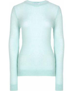 Акриловый свитер мятный с круглым вырезом с поясом Walk Of Shame
