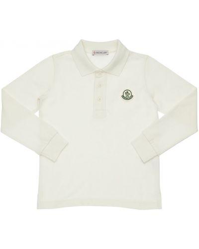 Bawełna bawełna biały koszulka polo Moncler