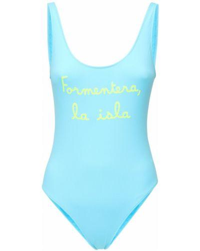Слитный купальник с декольте - синий Mc2 Saint Barth