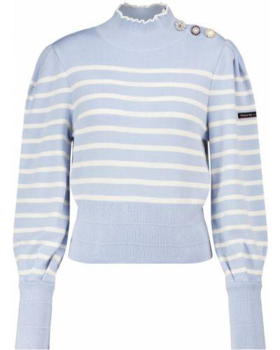 Белый шерстяной свитер в полоску Marc Jacobs