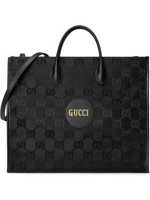 Torba na ramię skórzana - czarna Gucci